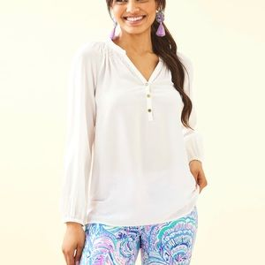 Lilly Pulitzer cream top